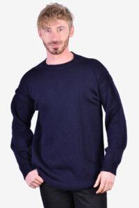 Vintage navy blue wool jumper