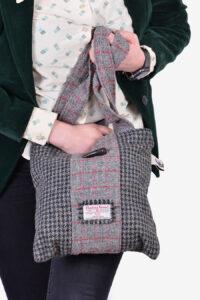 Vintage Harris Tweed tote bag