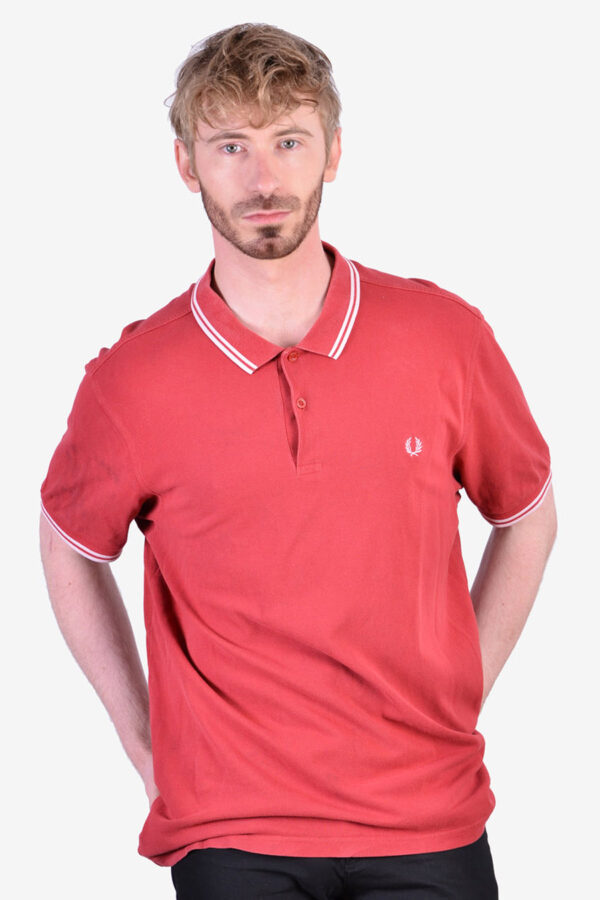 Vintage Fred Perry red polo shirt