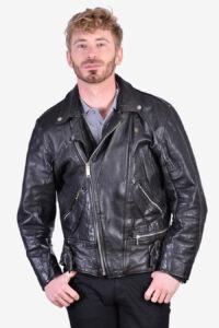 Vintage leather perfecto biker jacket