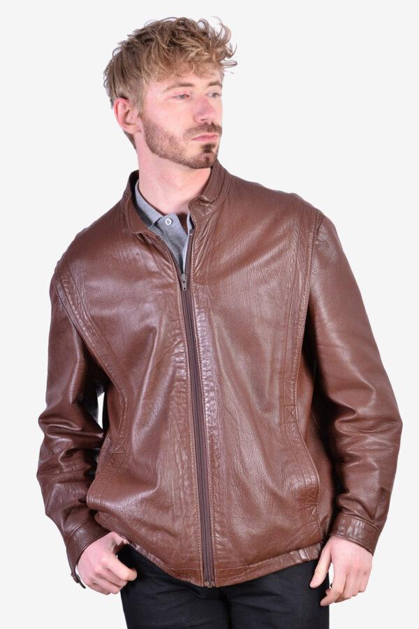 Vintage 1970's leather cafe racer jacket