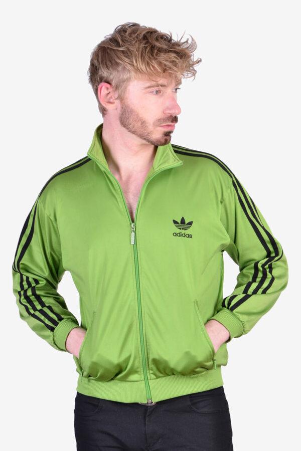 Adidas Firebird green track jacket
