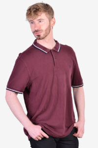 Vintage Fred Perry maroon polo shirt