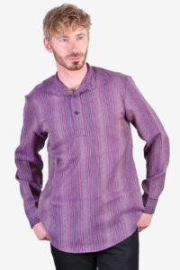 Vintage collarless polo shirt