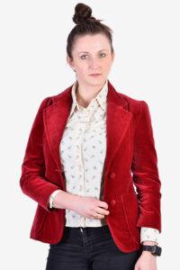 Vintage women's red velvet jacket