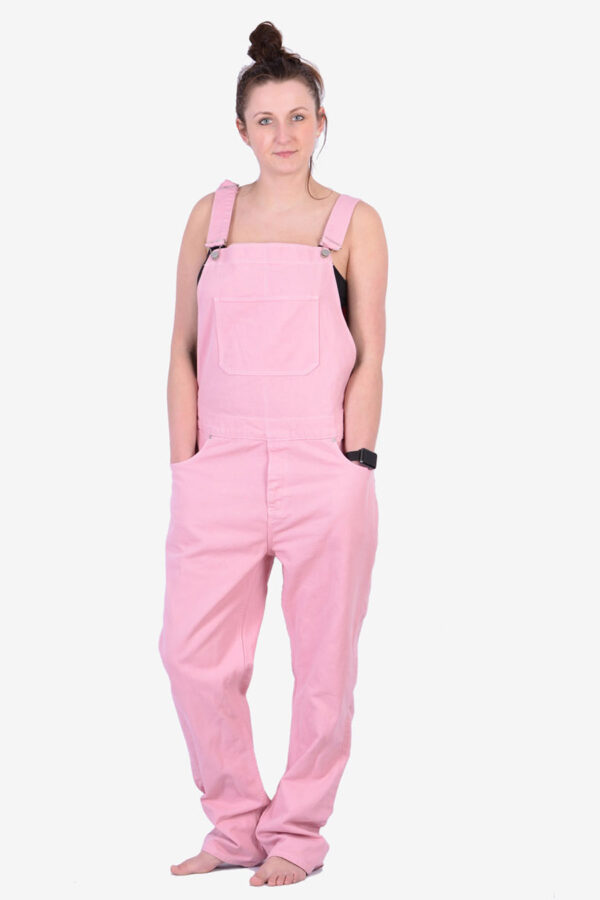 Vintage pink denim dungarees