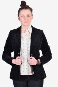 Women's vintage black velvet jacket