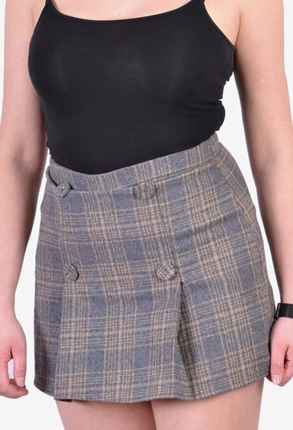 Vintage plaid mini skirt