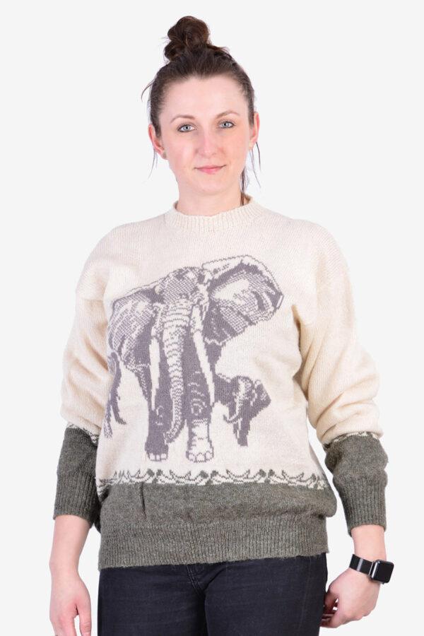 Vintage elephant jumper