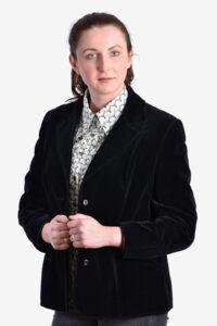 Women's black velvet jacket