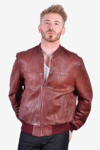 Vintage John Collier leather bomber jacket