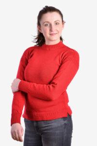 Women's vintage red jumper