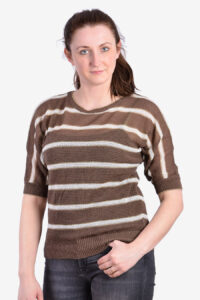 Vintage 1980's striped batwing top