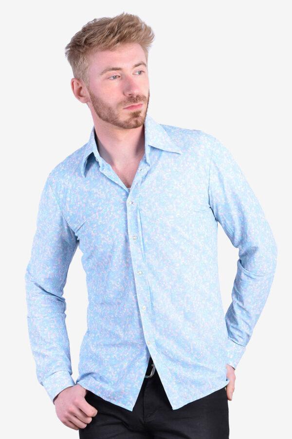 Men's 1970's floral shirt