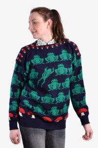 Vintage frogs and toadstalls jumper