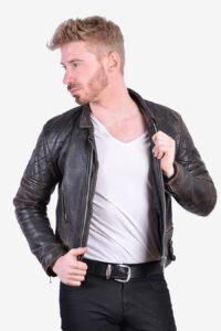 Vintage 1970's leather biker jacket