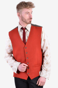 Vintage red waistcoat