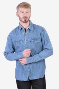 Vintage Levi's blue denim shirt
