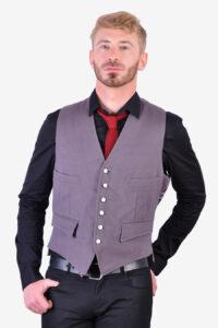 Vintage grey wool waistcoat