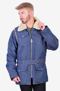 Vintage 1970's sherpa wrange coat