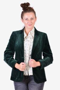 Women's 1970's velvet jacket