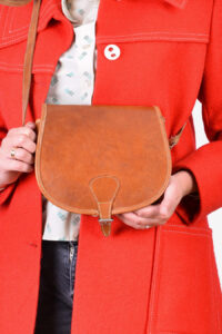 Vintage 1970's leather handbag