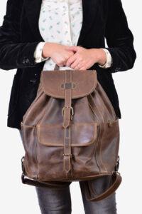 Vintage large leather rucksack