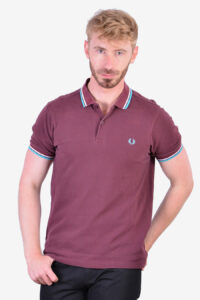 Fred Perry vintage maroon polo shirt