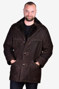 Vintage sheepskin suede coat