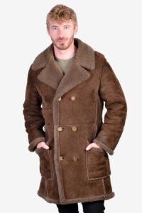 Vintage brown sheepskin coat