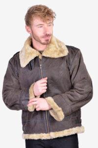 Vintage B3 type leather flight jacket