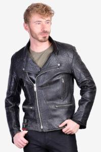 Men's 1970's leather biker jacket