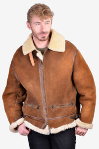 Vintage B3 type sheepskin flight jacket i