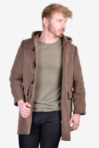 Traditional British duffle coat