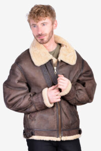 Vintage US Army B3 type leather flight jacket