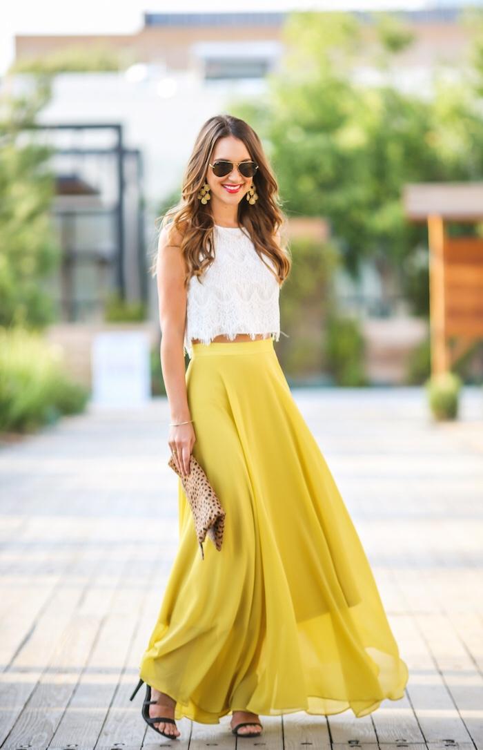 yellow-maxi-skirt