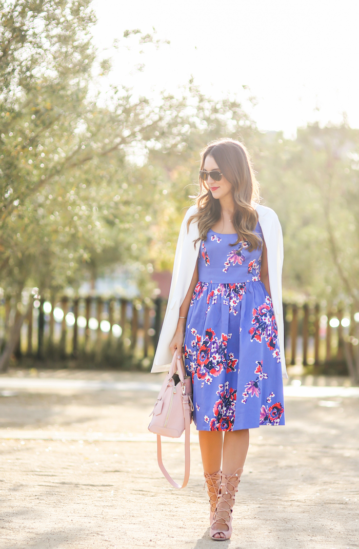 purple day dress
