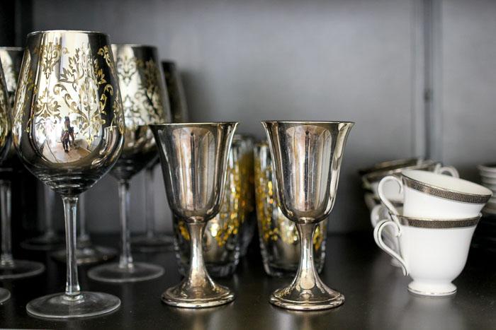 antique silver goblets