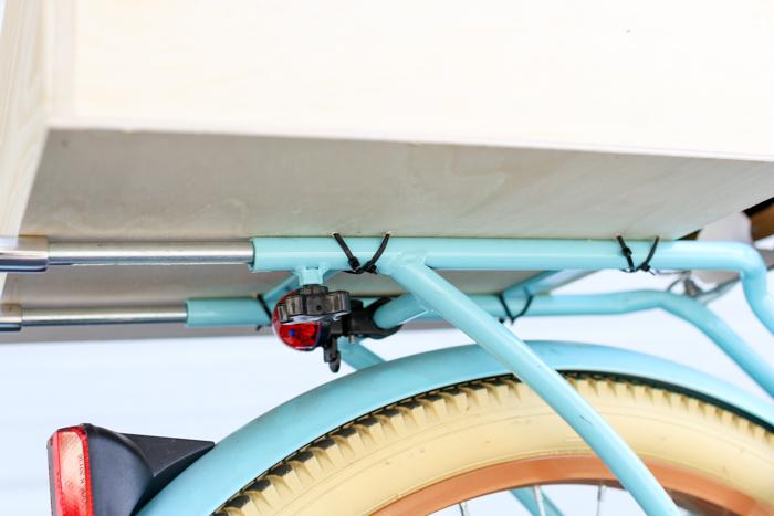 using zip ties on your bike