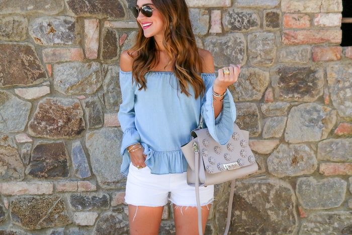 chambray summer top