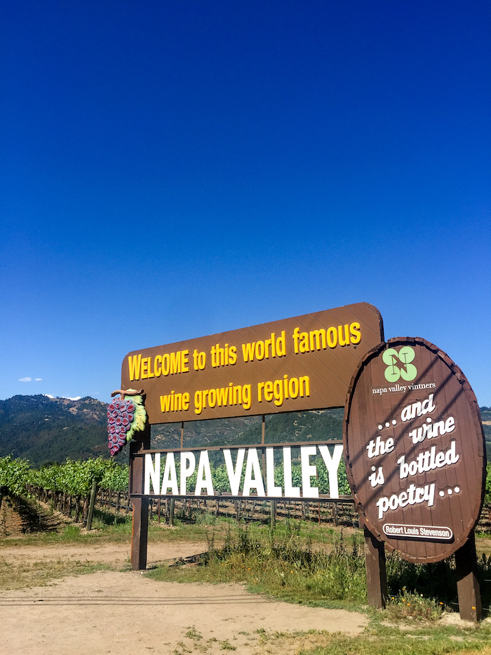 napa valley street sign