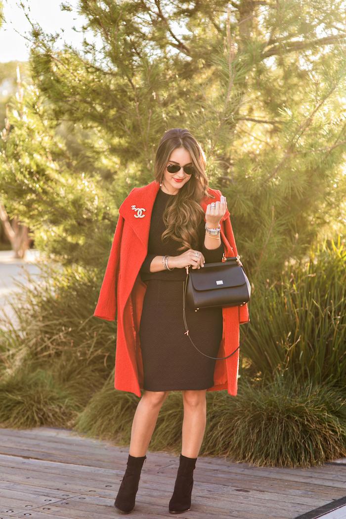 classic red coat