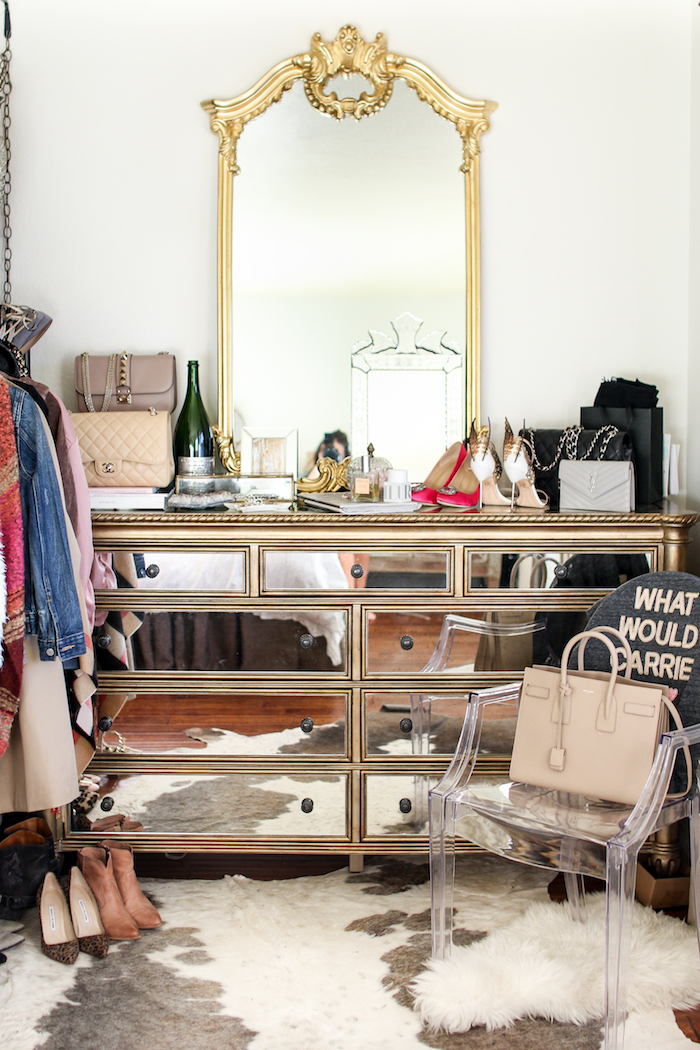 hooker furniture mirrored dresser