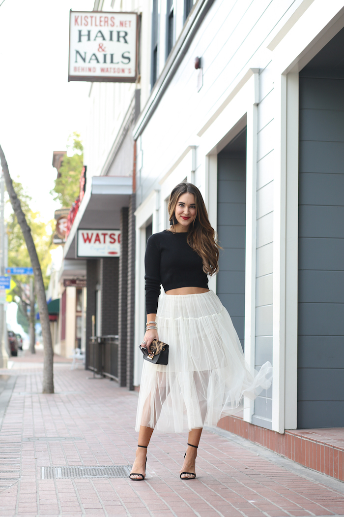 stying a tulle skirt