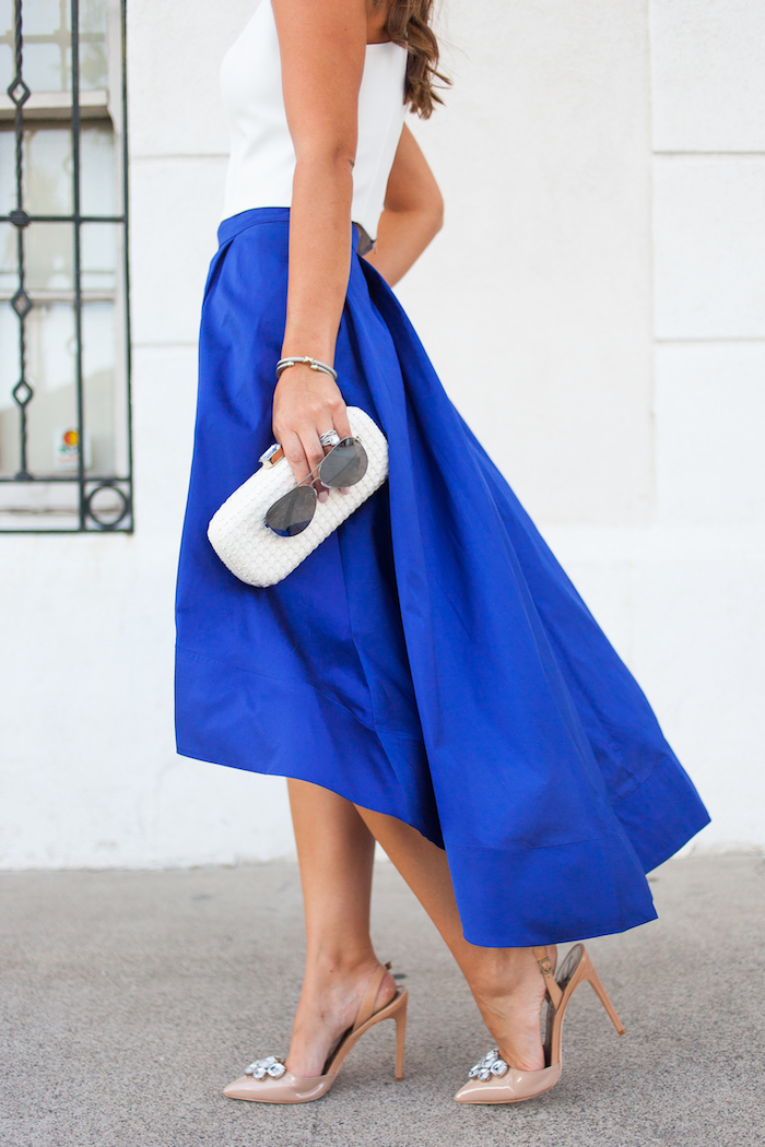 blue ball skirt
