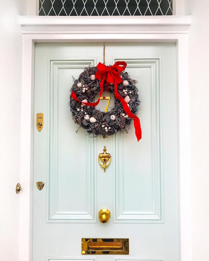 pale blue front door