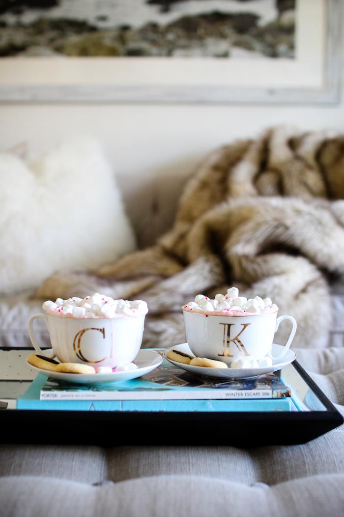 monogrammed tea cups