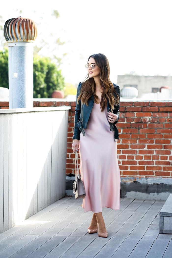 yumi kim pink slip dress