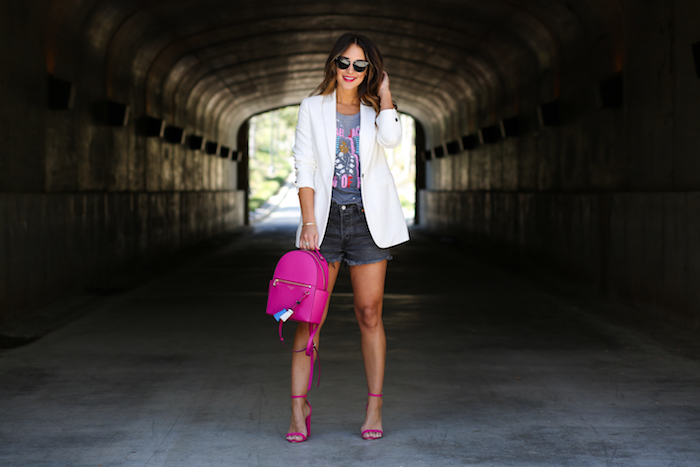 styling a blazer and shorts