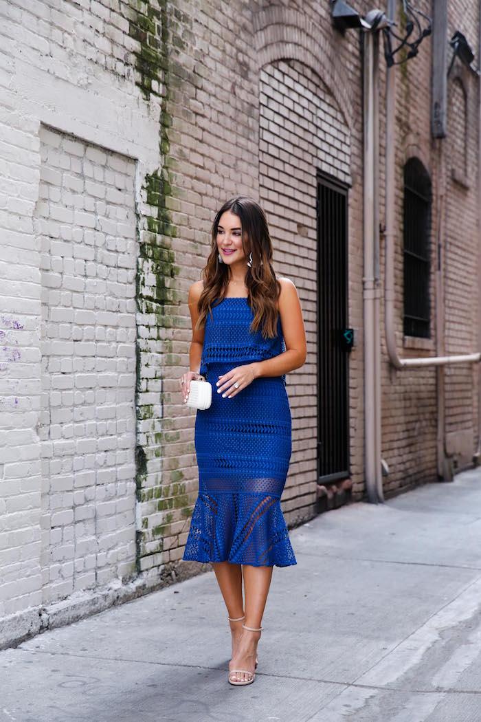 shoshanna blue dress